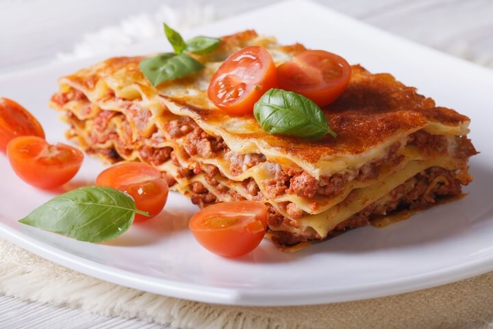 Italian Lasagne is one of the traditional Italian food dishes.