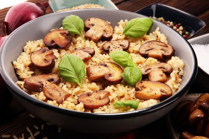 Risotto is one of the traditional Italian food dishes.